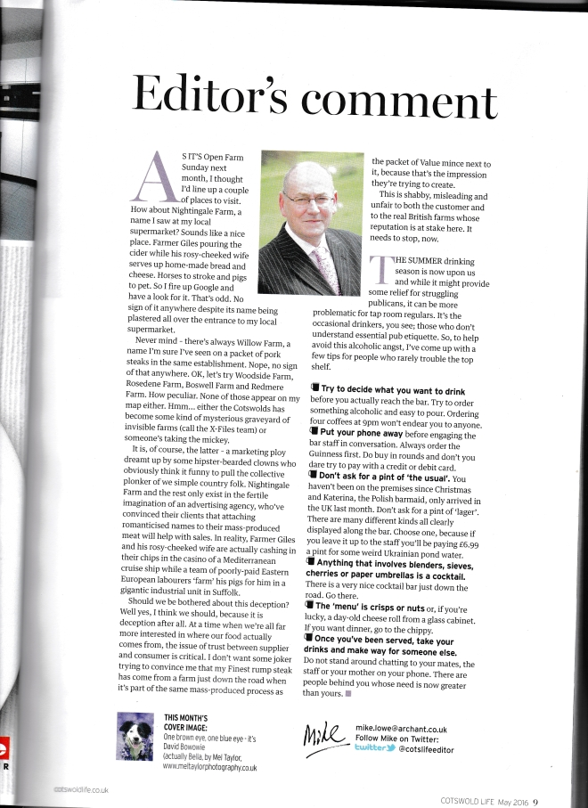 Cotswold life editor